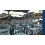 Aluguel de talheres e mesas de eventos na Chácara Santa Teresinha