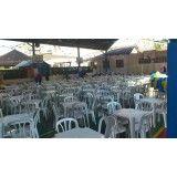 Fazer locação de cadeiras na Chácara Santo Antônio